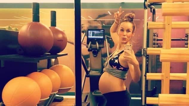 Annemarie Carpendale Babybauch Sport