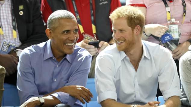 Barack Obama und Prinz Harry