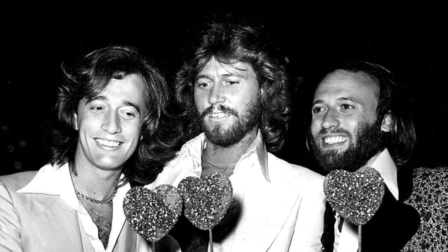 Robin Gibb, Barry Gibb und Maurice Gibb als Bee Gees 1978