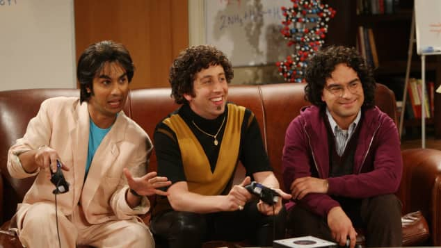 "Kunal Nayyar, Simon Helberg und Johnny Galecki in ""The Big Bang Theory"" 2009"