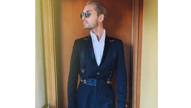Bill Kaulitz erschien bei den Oscars 2019 in einem Anzug von Karl Lagerfeld
