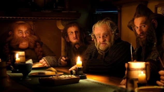 """""""Bombur"""", """"Ori"""", """"Dori"""", """"Nori"""" und """"Gloin"""" in """"Der Hobbit"""""""