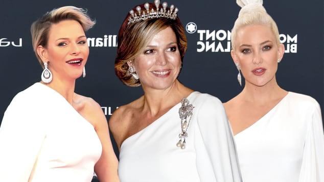 Fürstin Charlène von Monaco, Königin Máxima und Kate Hudson wurden alle im gleichen weißen Kleid gesichtet