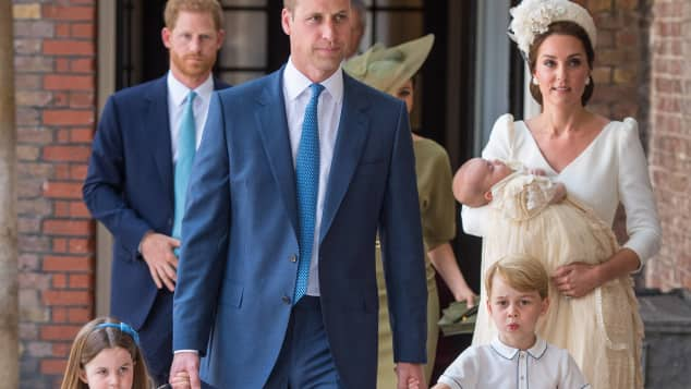 Prinzessin Charlotte, Prinz William, Prinz George, Herzogin Kate und Prinz Louis