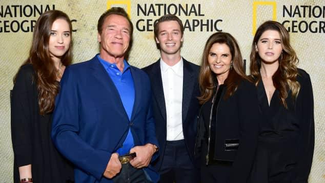 Christina, Arnold, Patrick Schwarzenegger, Maria Shriver, Katherine Schwarzenegger