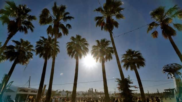 Das Coachella Festival findet in Indio, Kalifornien statt