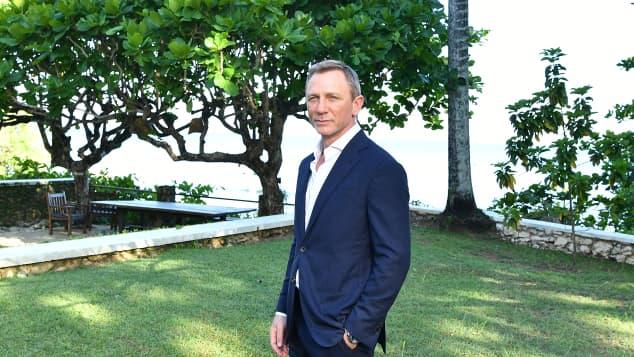 Daniel Craig in Jamaica in April 2019