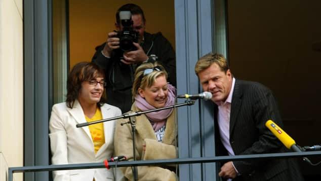 Daniel Küblböck, Juliette Schoppmann und Dieter Bohlen im Jahr 2003