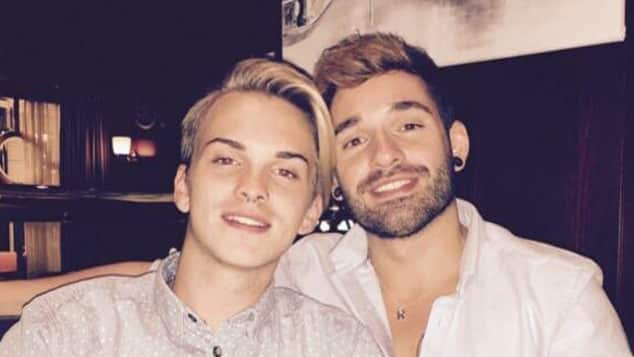 Daniel Küblböck und Ex-Freund Robin, als sie noch zusammen waren