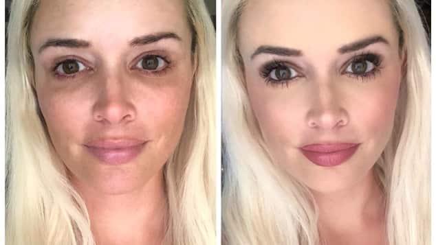 Daniela Katzenberger ungeschminkt mit Make-up