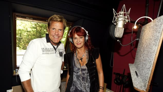 Dieter Bohlen und Andrea Berg 2011 im Studio