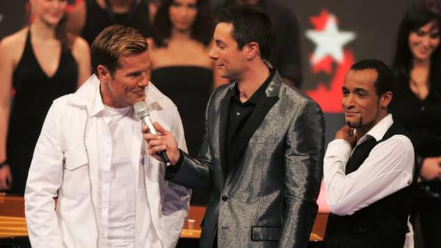 """Dieter Bohlen, Marco Schreyl und Mark Medlock 2007 bei """"Das Supertalent"""""""