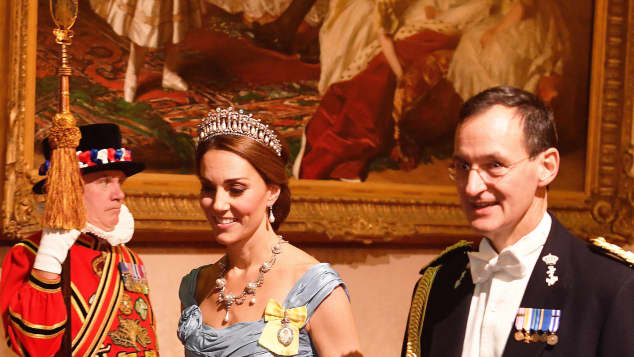 Duchess Catherine Dutch State Banquet at Buckingham Palace