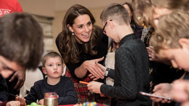Duchess Kate meets a children of deployed personnel serving in Cyprus