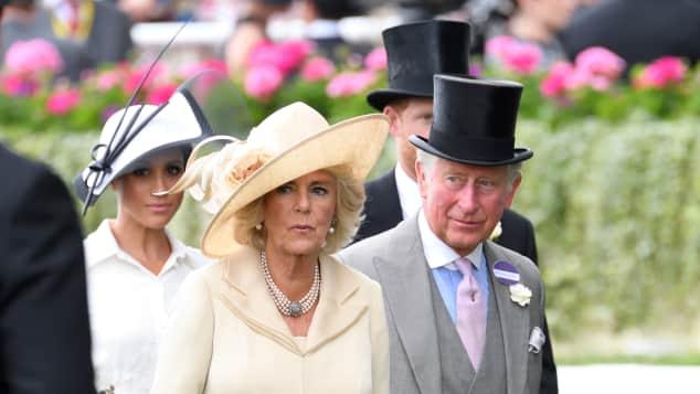 Duchess Meghan, Duchess Camilla and Prince Charles at Royal Ascot 2018