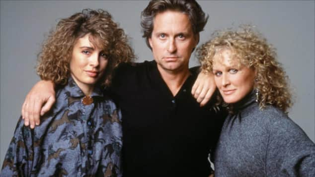 "Anne Archer, Michael Douglas and Glenn Close starred in ""Fatal Attraction"""
