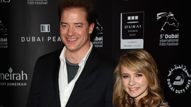 """Die """"Tintenherz""""-Stars Brendan Fraser und Eliza Bennett. Heute sieht die junge Schauspielerin ganz anders aus"""