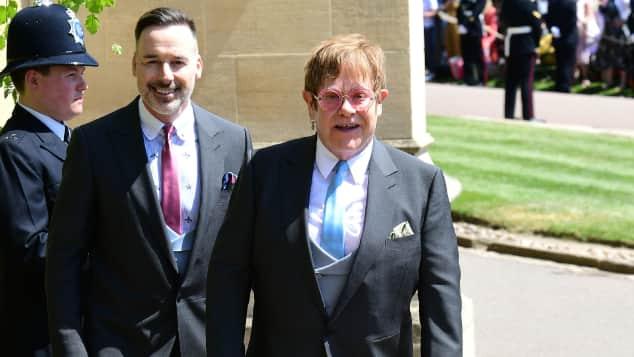 David Furnish und Elton John bei Prinz Harrys Hochzeit mit Meghan Markle