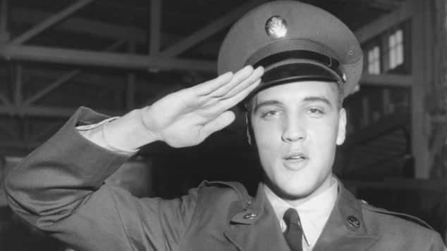 Elvis Presley in Deutschland stationert