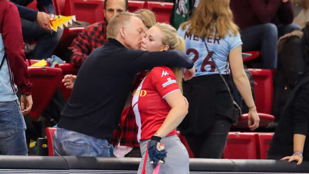 Johannes B. Kerner und Tochter Emily