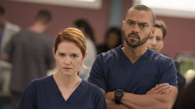 Sarah Drew April Jesse Williams Jackson Grey's Anatomy