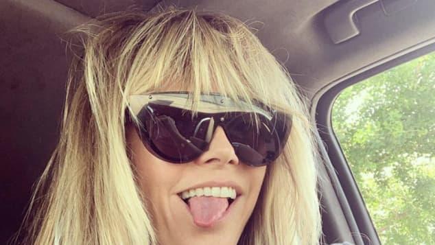 Heidi Klum ist nun Blondine
