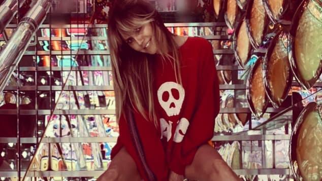 Heidi Klum unten ohne freizügig Instagram Bild