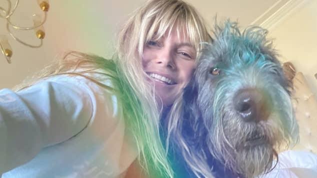 Heidi Klum ohne Make-up ungeschminkt
