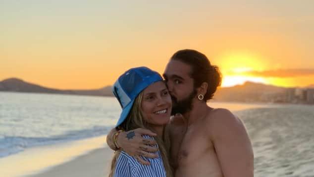 Heidi Klum Tom Kaulitz Strand verliebt