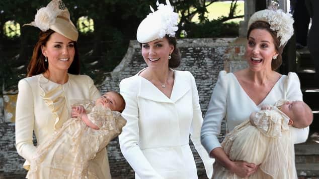 Herzogin Kates Looks zu den Taufen ihrer Kinder