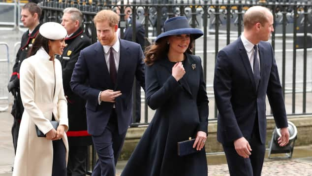Prinz William, Herzogin Kate, Meghan Markle und Prinz Harry beim Gottesdienst am Commonwealth-Tag