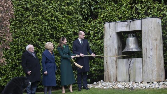 Michael D. Higgins, seine Frau Sabina Coyne, Herzogin Kate und Prinz William