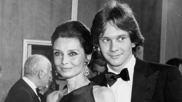 Audrey Hepburn and her son Sean Ferrer