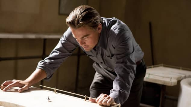 "Leonardo DiCaprio in ""Inception"""