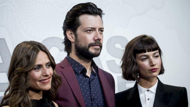 """Itziar Ituno, Alvaro Morte und Ursula Corbero aus """"Haus des Geldes"""""""