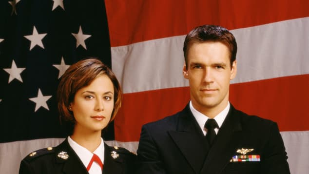Catherine Bell and David James Elliott in JAG