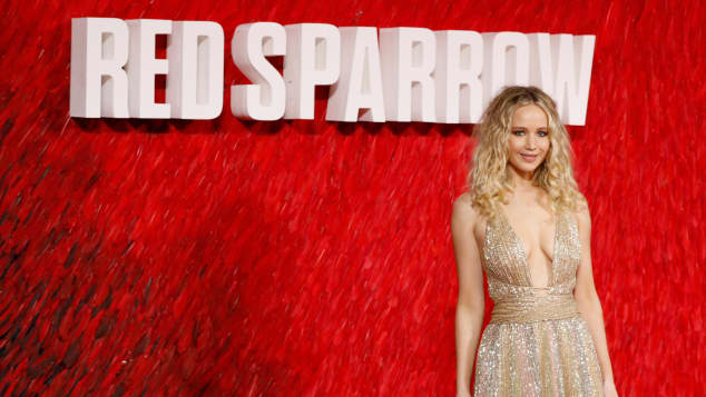 "Jennifer Lawrence bei der ""Red Sparrow""-Premiere in London,"