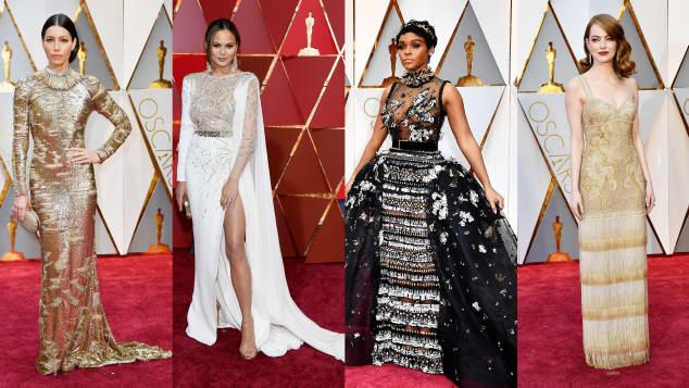 Jessica Biel, Chrissy Teigen, Janelle Monae und Emma Stone bei den Oscars 2017
