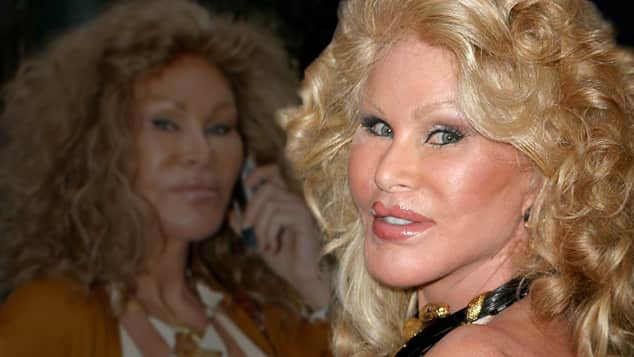 Jocelyn Wildenstein mit braunen und blonden Haaren