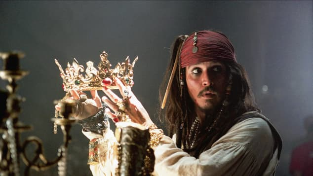 "Johnny Depp in ""Fluch der Karibik"""