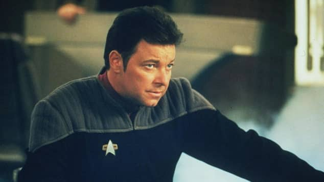 "Jonathan Frakes starred as ""William Riker"" on Star Trek: The Next Generation"