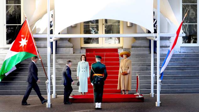 Königin Rania, König Abdullah, König Willem-Alexander, Königin Máxima, Jordanischer König in den Niederlanden, Jordanischer König in Holland, Jordanische und niederländische Royals