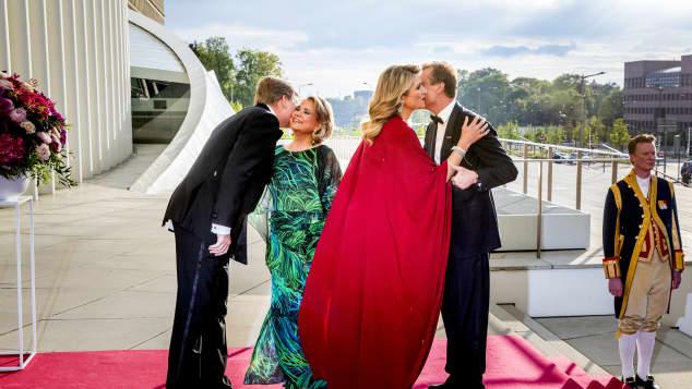 König Willem-Alexander, Königin Maxima, Maria Teresa von Luxemburg, Großherzog Henri