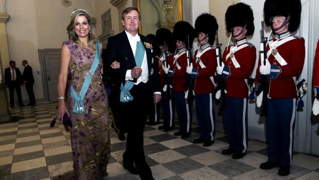 König Willem Alexander der Niederlande und seine Frau Maxima besuchten die Gala zum 50. Geburtstag von Kronprinz Frederik von Dänemark