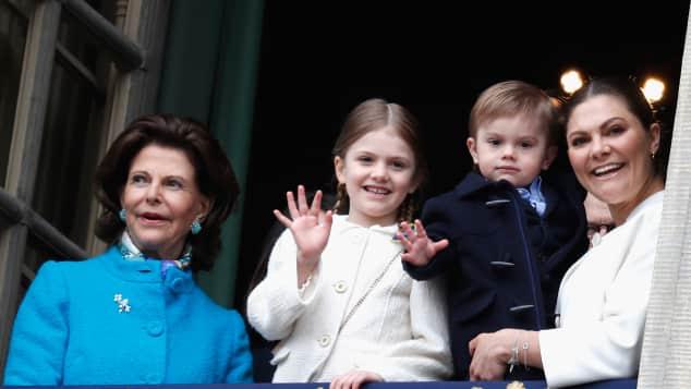 Königin Silvia Prinzessin Estelle Prinz Oscar und Prinzessin Victoria, König Carl Gustaf Geburtstag