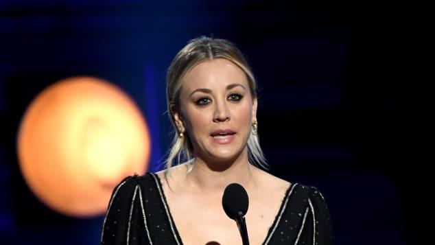 Kaley Cuoco at the 2019 Critics Choice Awards.