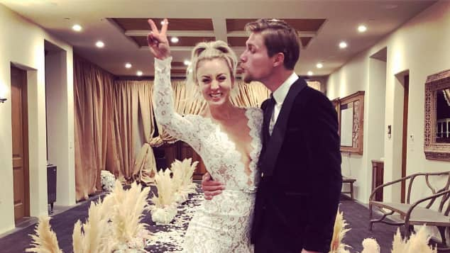 Kaley Cuoco geheiratet