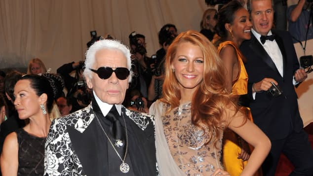 Karl Lagerfeld Blake Lively Muse