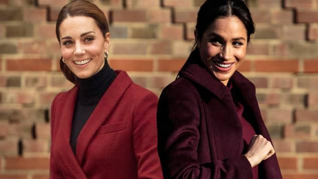 Herzogin Kate und Herzogin Meghan überzeugten mal wieder im Partnerlook