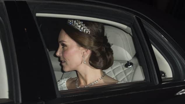 kate middleton lady dianas diadem diplomatischer empfang buckingham palace 2017